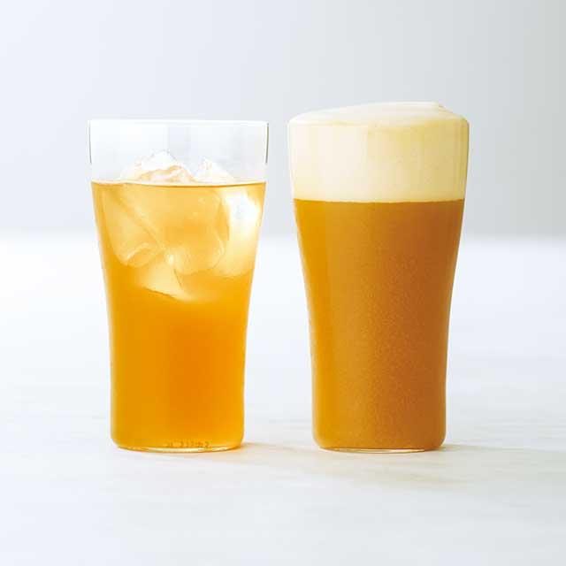 粉末タイプのお茶「バトン」 × ハイボール/ ビール