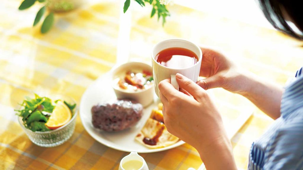 お腹も心も満たされる お茶と朝ごはん