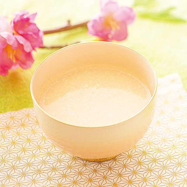 白桃の甘酒